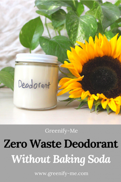 Zero Waste Deodorant Without Baking Soda