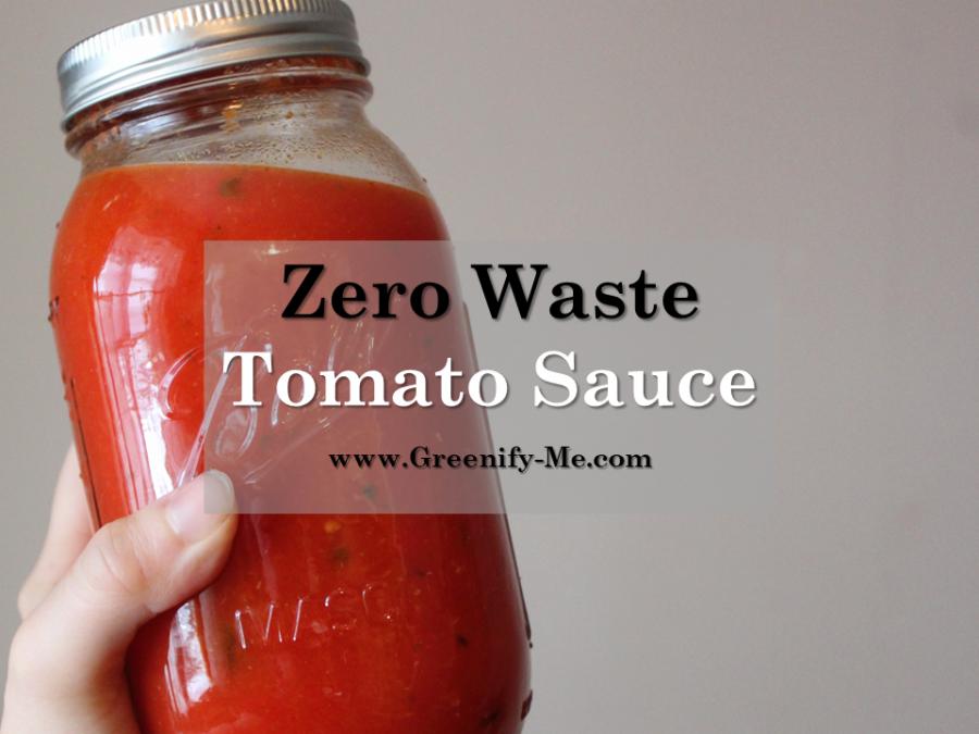 Zero Waste Tomato Sauce