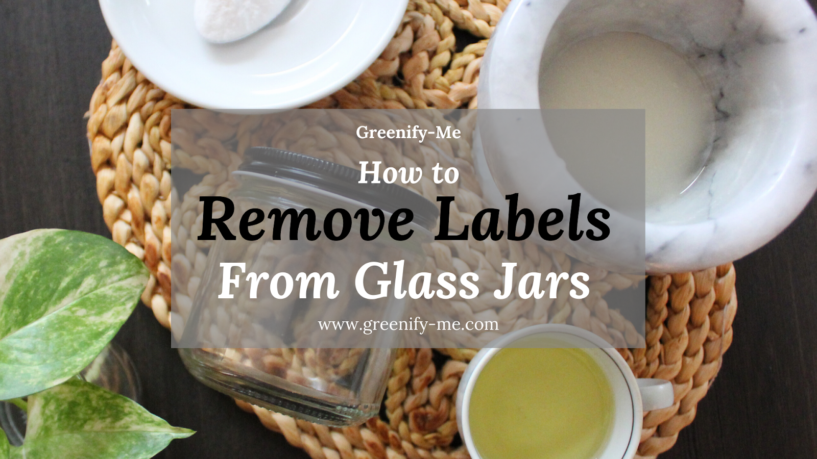 Remove Labels from Glass Jars