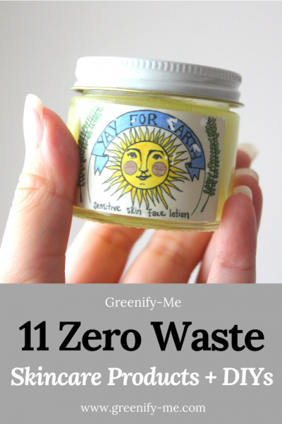 11 Zero Waste Skincare Products + DIYs